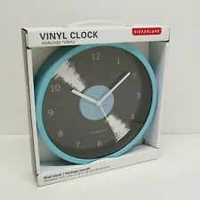 Kikkerland Design Vintage Vinyl Record LP Wall Clock Retro Music Lover New