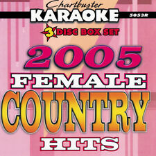 Chartbuster 5053- FEMALE COUNTRY HITS from 2005 50 KARAOKE SONGS ON 3 CDG'S