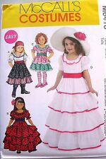 McCall's M6418 Girl's Southern Belle Gypsy Spanish Dancer Costume Pattern Sz 3-8