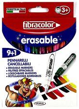Fibracolor Erasable Magic Pens 9+1