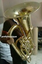 TUBA IN EB FLAT OF PURE BRASS IN GOLD POLISH+ HARD CASE +FREE SHIPPING (LATEST)