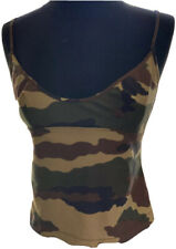 AUTHENTIC Plein Sud Sun Tank Top Camouflage /Army  Made In Franch
