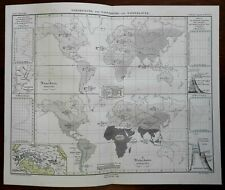 Rodents and Ruminating Mammals of the World Cattle Sheep Goats 1851 Berghaus map