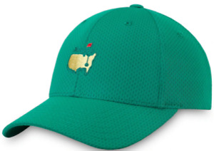 2021 Masters Golf Hat GREEN Textured Performance - Augusta National - In Hand