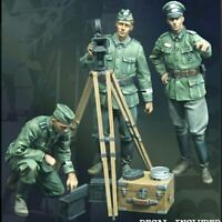 1/35 Resin Figure Model Kit GERMAN 3 FIGURES WITH Device WWII WW2 HQ Unpainted