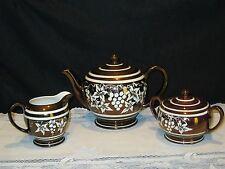 Vintage Sadler Copper And White Lustre Tea Set - 5pc