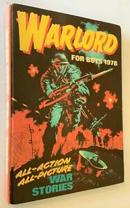 Warlord For Boys 1978 Vintage Hardback Annual  By DC Thomson & Co - Clipped