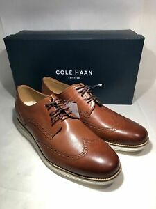 Cole Haan Orig Grand Wingtip C26471 Mens Oxford Brown Leather Shoes Free Ship!