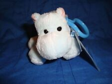 "Ganz Webkinz Kinz Klip Hippo W/ sealed Code Plush Backpack Clip 4.5"" long"