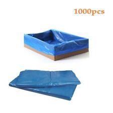 1000pcs PE Blue Box Liners Storage Plastic Bag 635x635mm 18um thick 380mm Gusset