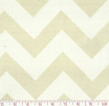 PKL Indoor Outdoor Chevron Stripe Print Fabric Hip Herringbone Cream BTY