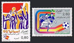 Algérie 681-682, MNH Monde Football Tasse Championnats, Espagne, 1982