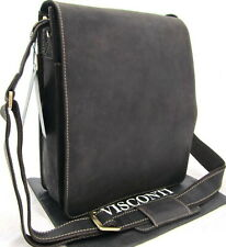 Visconti Messenger  Real Leather Cross Body Bag Distressed Brown New 18563