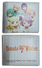 Yamada and the 7 Witches Group Bifold Wallet Anime Manga NEW