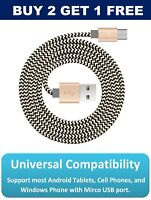 0.5m USB Micro FAST Data Charger SAMSUNG Galaxy Edge Cable Android Kindle