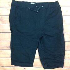 Carbon Drawstring Long Shorts Mens XL Black Freedom Flex Black Slip On Rue 21