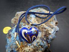 IJM Designs  Cobalt Blue  Enamel Heart Necklace