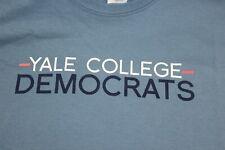 Yale College Democrats large blue t shirt