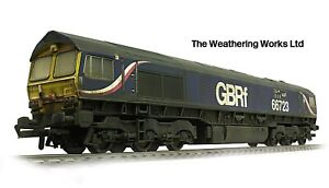 Hornby GBRF Class 66 723 Chinook *PRO WEATHERED LOOK* DCC Ready