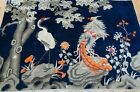 """ANTIQUE CHINESE PICTORIAL BIRDS PEKING HAND KNOTTED WOOL ORIENTAL RUG 4' x 5'10"""""""