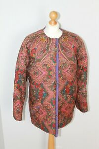 Emanuel Ungaro Paralelle Paris Quilted Paisley Craft Jacket Made in Italy