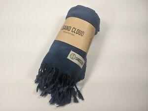 Sand Cloud Navy Acid Wash Tie Dye Towel Blanket Tapestry Wrap NWT