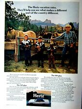 1971 Ford Galaxie HERTZ Vacation Cowboy Ranch Original Print Ad-8.5 x 11""
