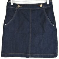 Ann Taylor Loft Denim Mini Skirt Women's Size 4 Blue Dark Wash Pockets