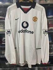 Nike Manchester United Beckham Player Issue Away Jersey / Shirt 2002-03 sz XL