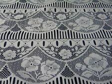 1M tissu voilage rideau cuisine chambre blanc  l75 neuf mercerie au metre REF13
