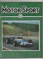 MOTOR SPORT MAGAZINE NOVEMBER 1969 - Fiat 125S / Canadian GP / Mexican GP