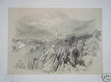 Forbach selva negra murgtal Litografia Cattier 1848