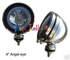 """chrome spot lamps blue angel eye mini 4"""" spotlights H3 fog car van 12v truck"""