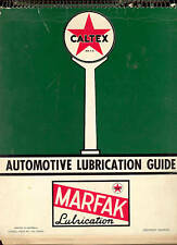 CALTEX Lubrication Guide for 60 USA UK & Holden Cars