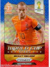 2014 World Cup Prizm World Cup Stars Blue Red Wave No.22 W. Sneijder (Nederland)