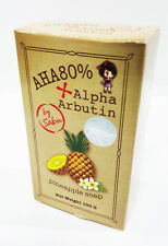 AHA 80% ALPHA ARBUTIN THAI PINEAPPLE SOAP BODY FACE WASHING WHITENING SKIN CA