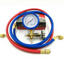 Vacuum Pump Air Conditioning Gauge Refrigerator Refrigerant Fluoride Gauge+ Hose