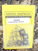 Model Shipways quality fittings MS0962 Gunport frames 10X10MM metal bronze color