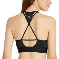 Core 10 Women's Plus Size  Multi-Strap Sports Bra with, Black Strappy, Size 3.0