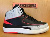 NIKE AIR JORDAN 2 RETRO II INFRARED CEMENT GREY BLACK MENS GS DS AUTHENTIC NEW