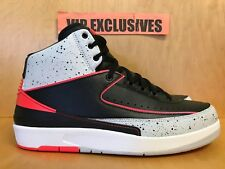 NIKE AIR JORDAN 2 RETRO II INFRARED CEMENT GREY BLACK 385475-023