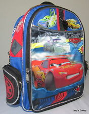 Disney Cars Car  Back Pack  School Bag Backpack Medium 10 x 13  NWT
