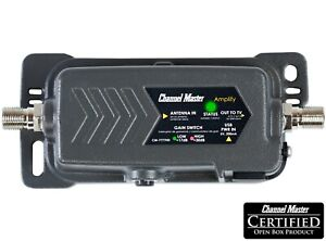 Channel Master Amplify Adjustable Gain Preamplifier TV Antenna Amplifier 7777HD