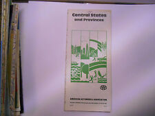 usa etats unis ancienne carte routiere central states AAA road map 1981