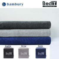 Bambury BedT Cotton Blend Jersey T-Shirt Sheet Set Graphite|Grey|Denim QUEEN Bed