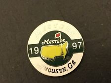 1997 US MASTERS Augusta Logo Flat Coin GOLF BALL MARKER New TIGER WOODS