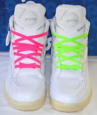 75753921a65 New w Box Reebok Twilight Zone The Pump White Pure Silver Retro Neon Laces