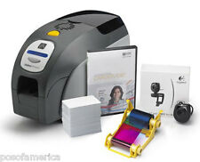 ZEBRA ZXP3 Dual Sided PVC Card Printer Software Ribbon Webcam Cards NEW