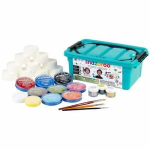 Snazaroo Pro Face Painting Kit 28 Piece Fancy Dress Face Paints Kids Adults