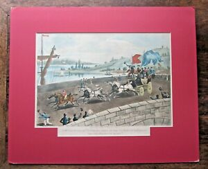 1815 Peace Coach News Waterloo Victory Rochester Bridge Antique Kent Medway RARE